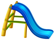 A slide at the playground .