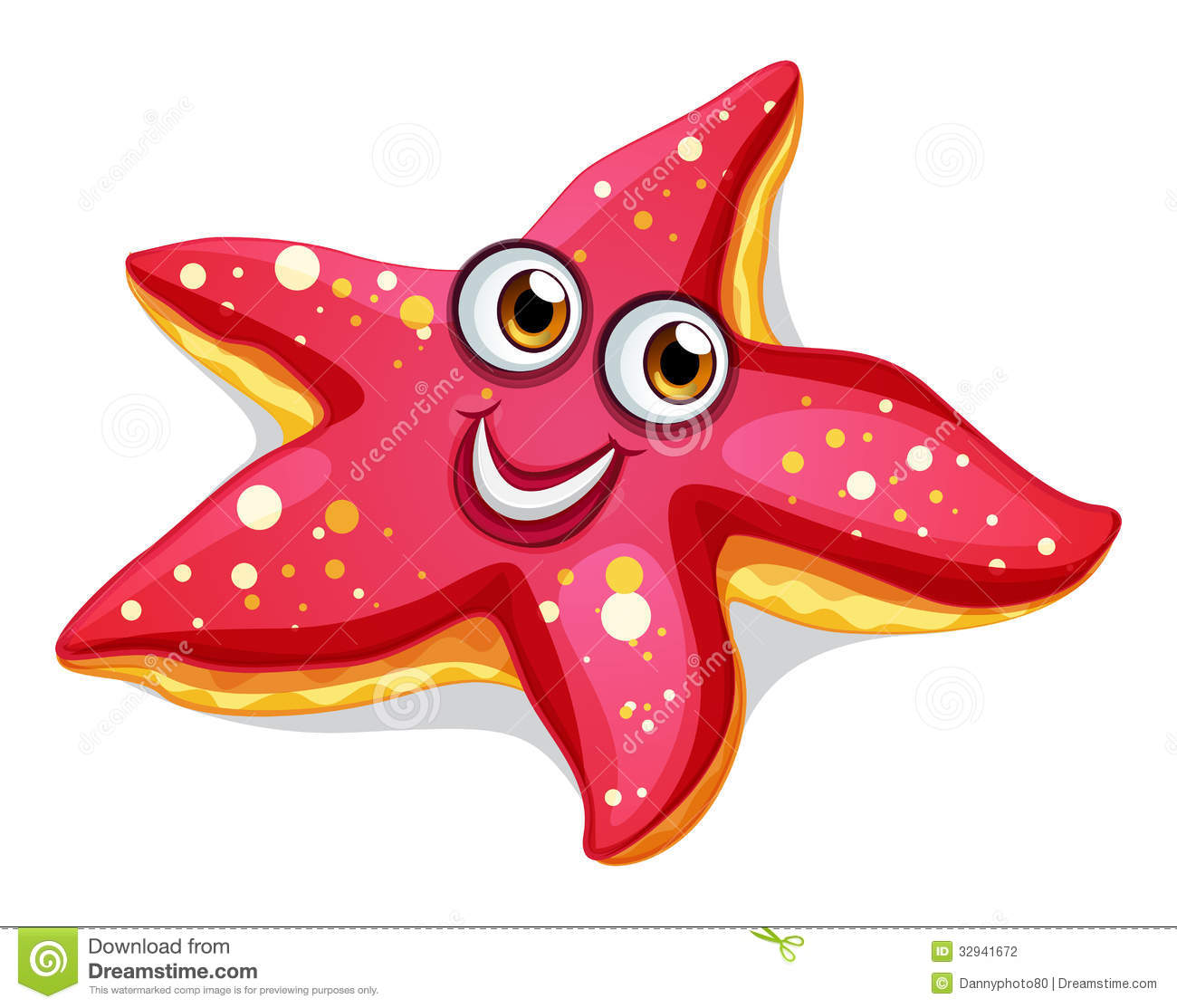 A smiling starfish Stock .