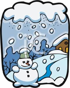 A Snowman In a Snowstorm - Clipart-A Snowman In a Snowstorm - Clipart-13