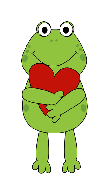 A valentines frog holding a red heart-A valentines frog holding a red heart-17