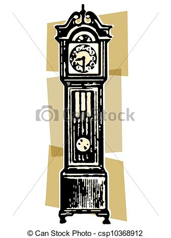 ... A vintage grandfather clock