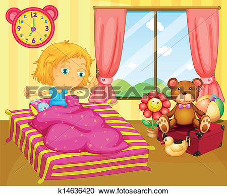 A young girl waking up-A young girl waking up-16