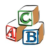 abc blocks clipart black and  - Abc Blocks Clip Art