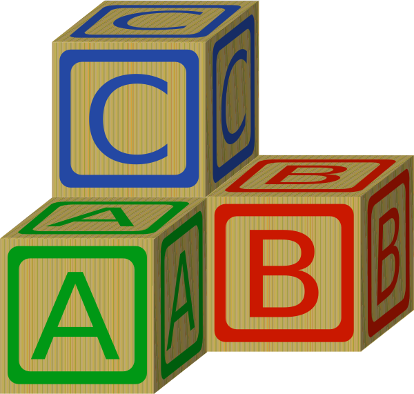 Abc Blocks Clip Art At Clker  - Building Blocks Clip Art