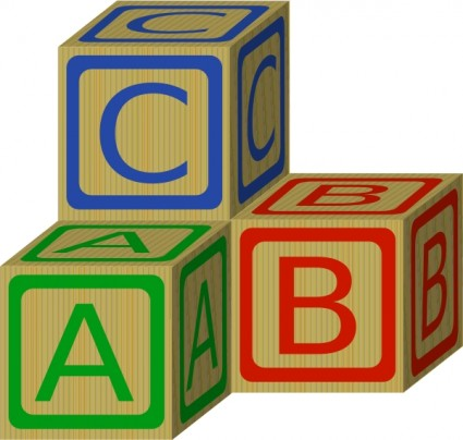 Abc Blocks Clip Art Free Vector