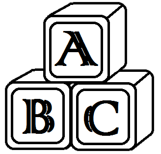 Abc Blocks Clipart Black And White Clipart Panda Free Clipart