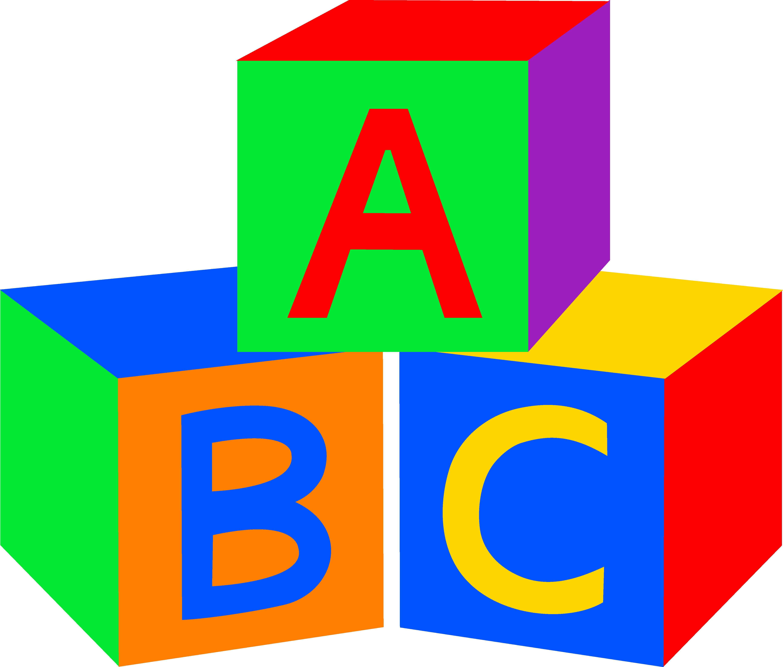 Abc blocks clipart black and white free-Abc blocks clipart black and white free-12