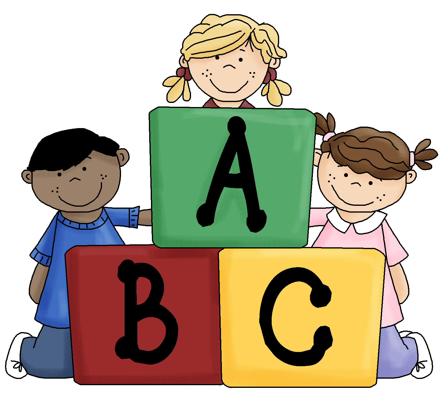 Abc blocks clipart kid