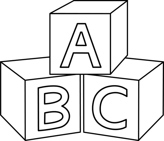 ABC Blocks Coloring Page - Free Clip Art-ABC Blocks Coloring Page - Free Clip Art-17
