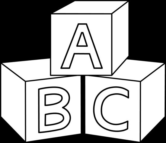ABC Blocks Coloring Page - Free Clip Art-ABC Blocks Coloring Page - Free Clip Art-2