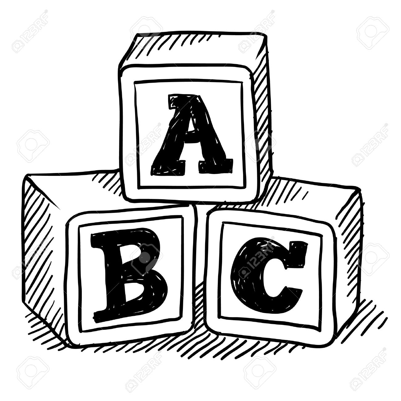 Abc building blocks clipart - .-Abc building blocks clipart - .-15