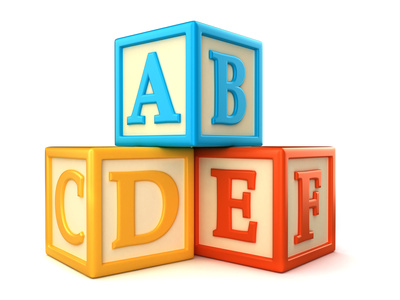 Abc building blocks clipart - .