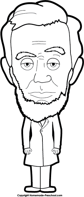 Abe Lincoln Cartoon Clipart B - Abe Lincoln Clipart
