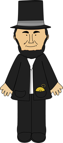 Abe Lincoln School Clipart #1