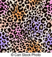 abstract animal print Vector Clipartby pauljune2/193; colorful leo print - seamless background