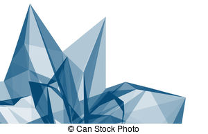 ... Abstract crystal - Abstract blue crystal structure