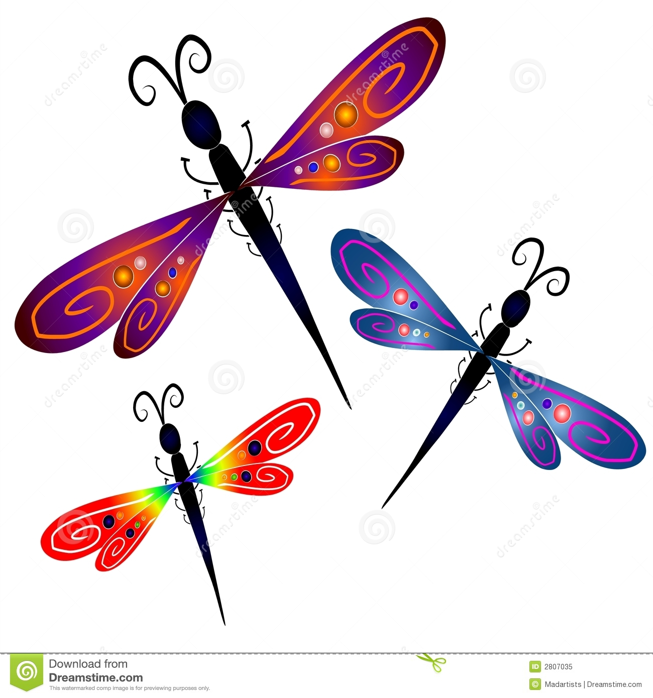 Abstract Dragonfly Clip Art-Abstract Dragonfly Clip Art-15