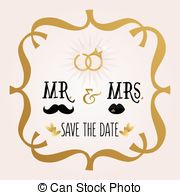 ... Abstract Mr. u0026amp; Mrs. Save The Date - Black and golden.