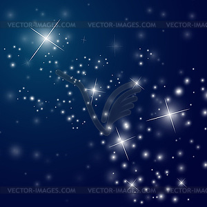 Abstract Starry Night Sky Vector Clip Art