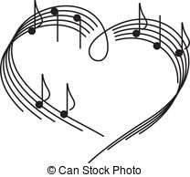 Abstract vector music instruments Clipartby ElaKwasniewski75/6,713; Music of love. The heart of the music camp with notes.