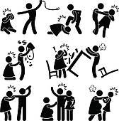 Abusive Husband Boyfriend Pictogram Clip-Abusive Husband Boyfriend Pictogram Clipart Graphic-4