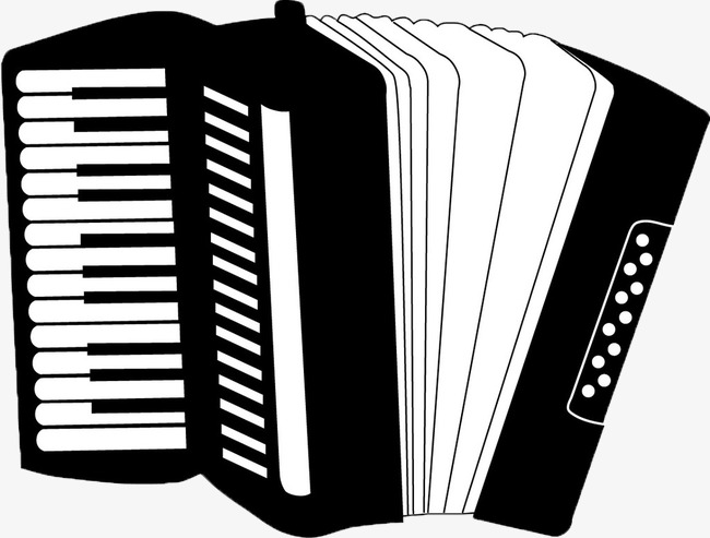 accordion, Black And White, Musical Instruments, Hand Painted PNG Image and  Clipart