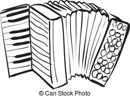 . ClipartLook.com Accordion Doodle - Vector illustration of accordion in black.