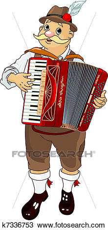Clipart - Oktoberfest Accordion Player. Fotosearch - Search Clip Art,  Illustration Murals, Drawings