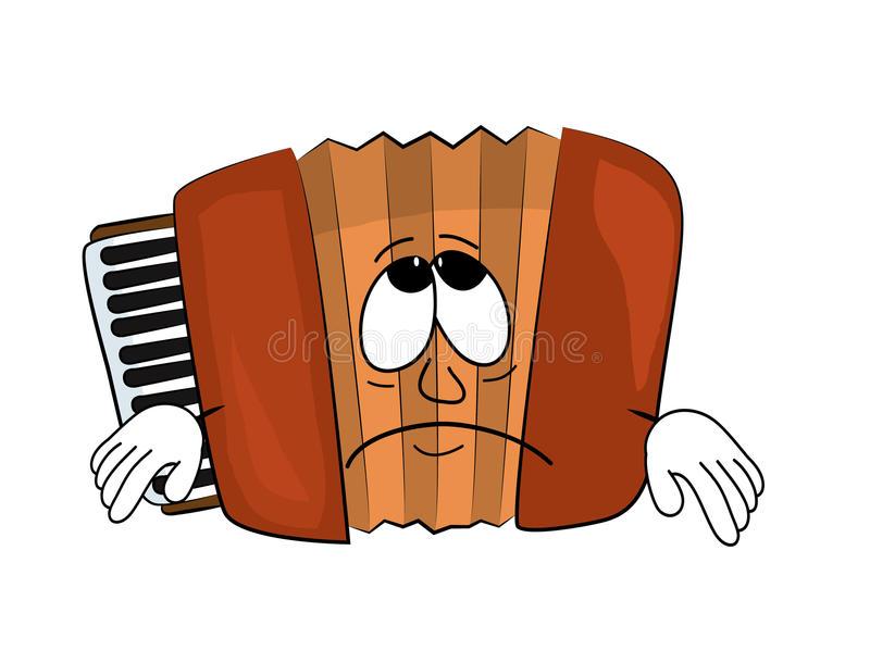 Download Sad accordion illustration stock illustration. Illustration of  clipart - 55838888