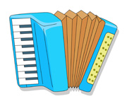 music instruments accordion. Size: 101 Kb From: Musical Instruments