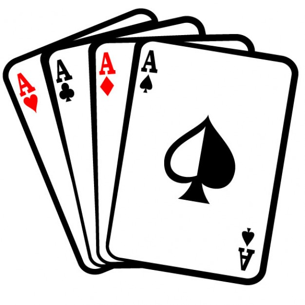 Aces Poker Playing Cards Vector Free 123freevectors