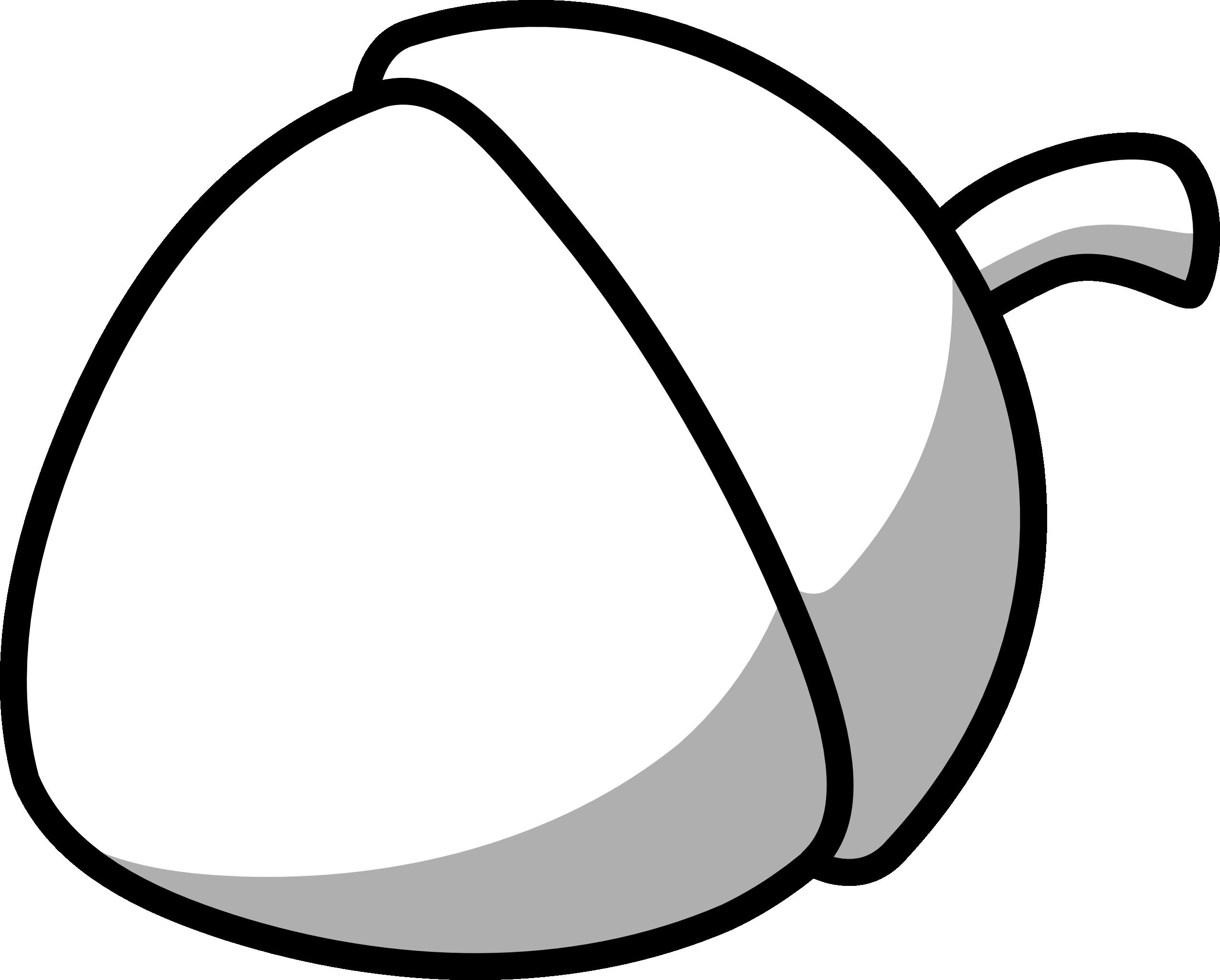Acorn Clipart Black And White-acorn clipart black and white-0