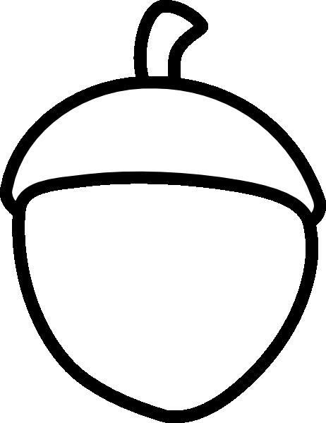 acorn clipart black and white-acorn clipart black and white-16