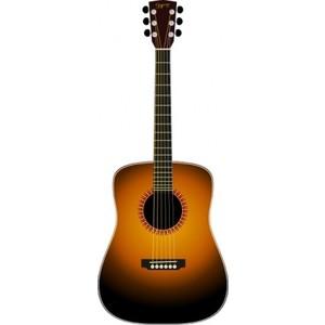 Acoustic Guitar clip art .