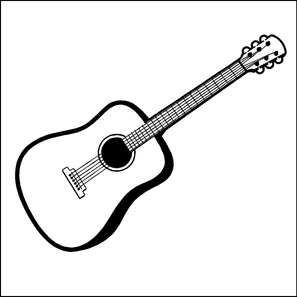 Acoustic Guitar Clip Art. Free Guitar Clipart