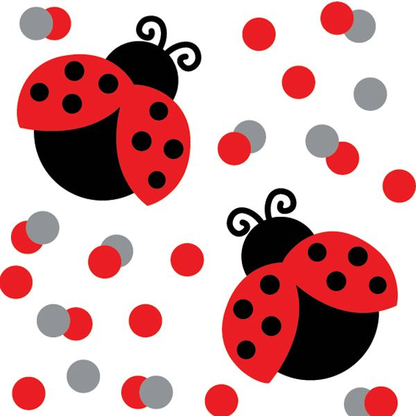 Add Some Whimsy To The Tables At Your La-Add some whimsy to the tables at your ladybug-themed party with cute Lady  Bug Fancy First Birthday confetti - ideal table sprinkles.-2