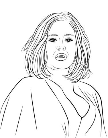 Adele coloring page