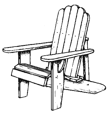 77 Adirondack Chair Cl Adirondack Chair Clip Art Clipartlook