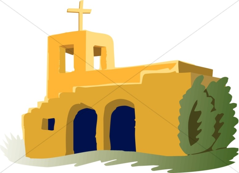Adobe Mission Church Church Clipart