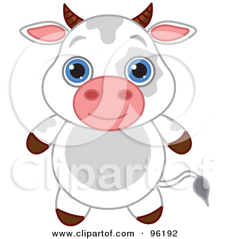 Adorable Baby Cow With Big Blue Eyes by -Adorable Baby Cow With Big Blue Eyes by Pushkin-12