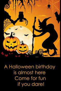 Adult Halloween Birthday Clipart #1