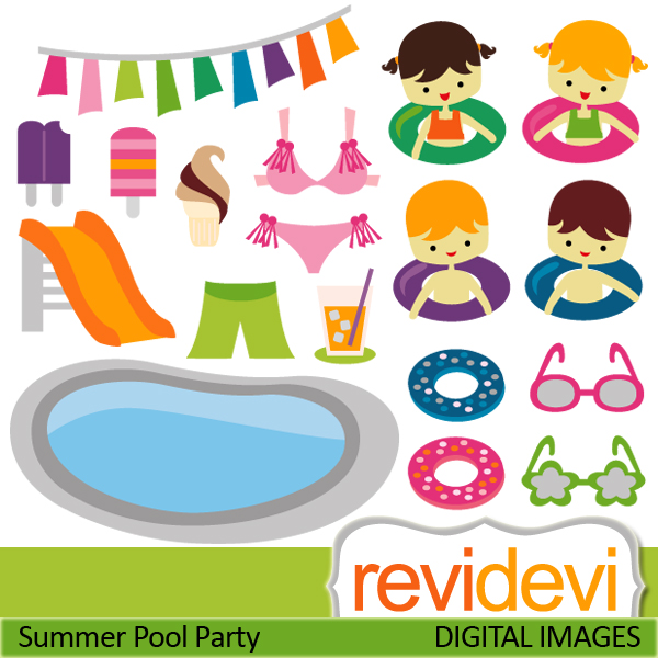 Adult Swim Party Clipart - Pool Party Pictures Clip Art