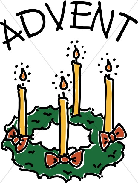 Advent Candle Wreath Clipart