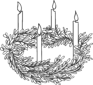 Advent Wreath Christmas Clipart. Advertising. Advent Wreath 1