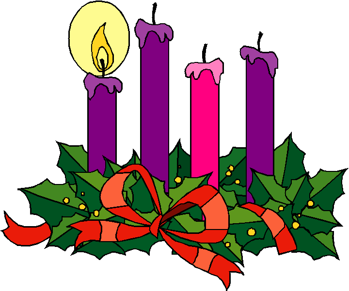 Advent Wreath Clipart Colored ... Advent 1