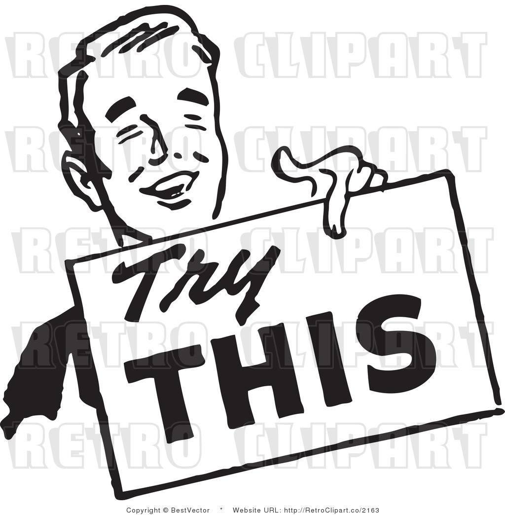 Advertising clipart: Clip Art of a Try This Man