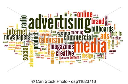 Advertising word in tag cloud - csp11823718