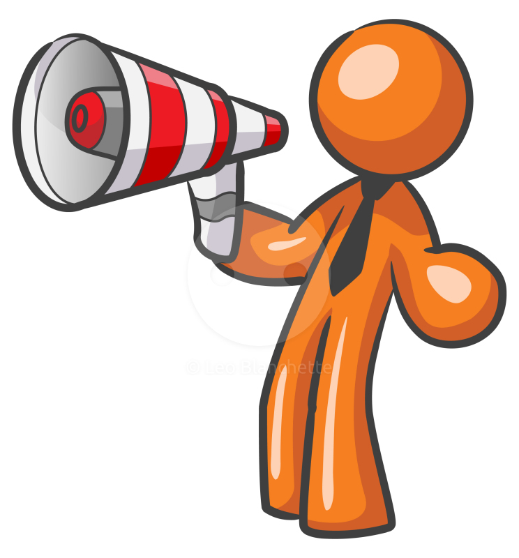 Man With Bullhorn Clipart #1