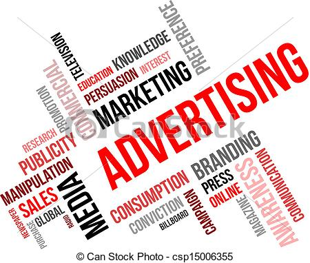 word cloud - advertising - csp15006355