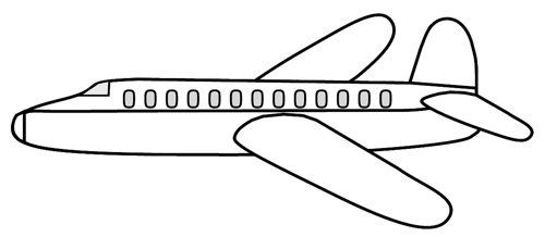 Aeroplane Black And White - Airplane Clipart Black And White